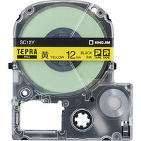 キングジム テプラ PROテープ 12mm エコロジーパック 黄ラベル(黒文字) 1箱(5個入) SC12Y-5P