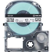 キングジム テプラ PROテープ 12mm エコロジーパック 白ラベル(黒文字) 1箱(5個入) SS12K-5P