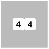 リヒトラブ ナンバーラベル(モノクロ) ロールタイプ 「4」 HK751R-4 1ロール(300片入)