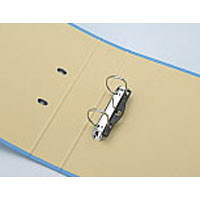 リヒトラブ D型リングファイル(くるみ貼り) A4タテ 背幅69mm 水 G2250 1箱(10冊入)