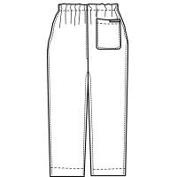 KAZEN カラーパンツ(男女兼用) スクラブパンツ 医療白衣 ネイビー S 155-98