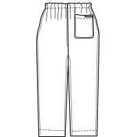 KAZEN カラーパンツ(男女兼用) スクラブパンツ 医療白衣 ネイビー LL 155-98