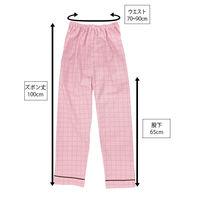 患者衣(男女兼用)パンツ ピンク L