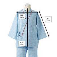 患者衣(男女兼用)上衣 ブルー S
