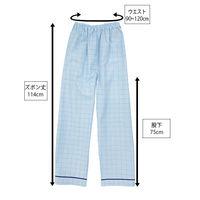 患者衣(男女兼用)パンツ ブルー 3L