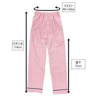 患者衣(男女兼用)パンツ ピンク 3L