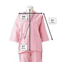 患者衣(男女兼用)上衣 ピンク LL