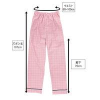 患者衣(男女兼用)パンツ ピンク LL