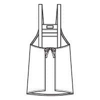 フォーク エプロン グリーンM 4100DP-4 (直送品)