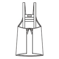 フォーク エプロン ブルーLL 4100DP-2 (直送品)
