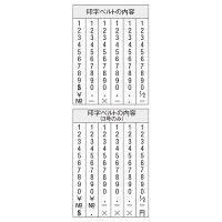 シャチハタ 回転ゴム印 欧文6連 初号 明朝体 CF-60M (取寄品)