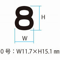 シャチハタ 柄付ゴム印連結式 数字 0号 ゴシック体 GRN-0G(取寄品)
