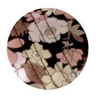 特殊衣料アボネット+ジャリ ハットフラワー 2081 ブラック フリーサイズ (取寄品)