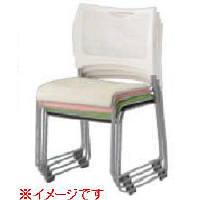 アイリスチトセ 樹脂メッシュスタッキングチェア ホワイト/ピンク (直送品)