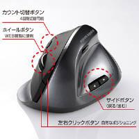 サンワサプライ 無線エルゴレーザーマウス
