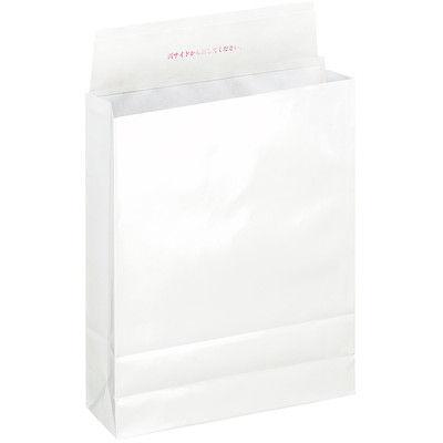 「現場のチカラ」 宅配袋白無地小 フィルム貼 封緘シール付 1箱(200枚入) スーパーバッグ