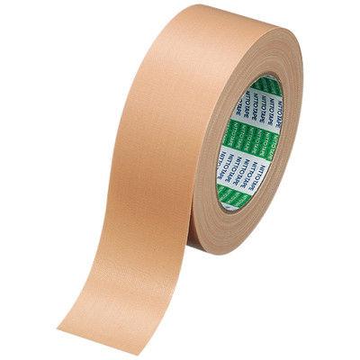 PROSELF 布粘着テープ No.750 0.33mm厚 50mm×25m巻 茶 1セット(5巻:1巻×5) ニトムズ