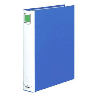 コクヨ チューブファイル(エコ) A4タテ とじ厚40mm 2穴 ブルー フ-E640B 1箱(10冊入)