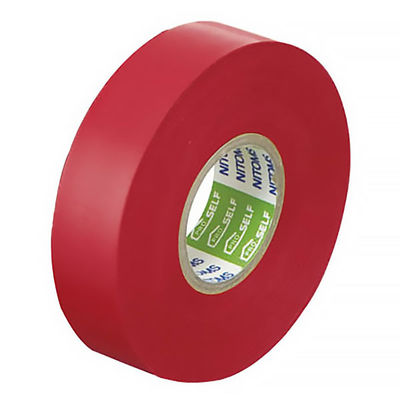 ニトムズ ビニルテープS 赤 10巻