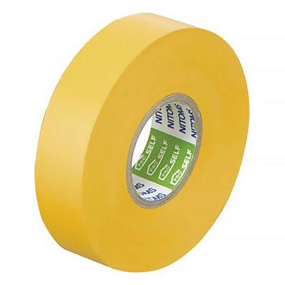 ニトムズ ビニルテープS 黄 19mm×20m巻 J2582 1箱(10巻入)