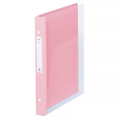 リヒトラブ メディカルサポートブック クリヤー ピンク 2穴 背幅31mm HB666-5 1箱(10冊入) (直送品)