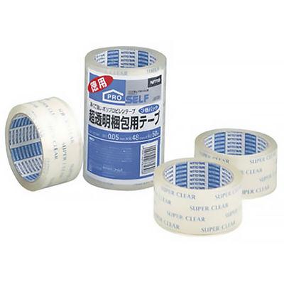 超透明梱包用テープ SC-01N 0.05mm厚 50m巻 J6130 1セット(15巻:3巻入×5パック) ニトムズ