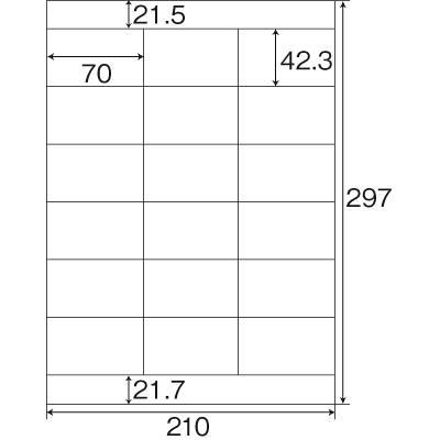 東洋印刷 ナナワード粘着ラベル(ワープロ&レーザー用ラベル) 18面 NEC文豪3列タイプ NEB210 1セット(2500シート入)