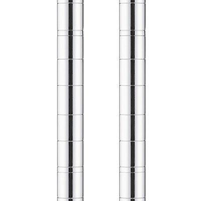 アイリスオーヤマ ポール直径25mm メタルラック ポール(柱)パーツ 高さ595mm MR-6P1セット(2本入)(直送品)