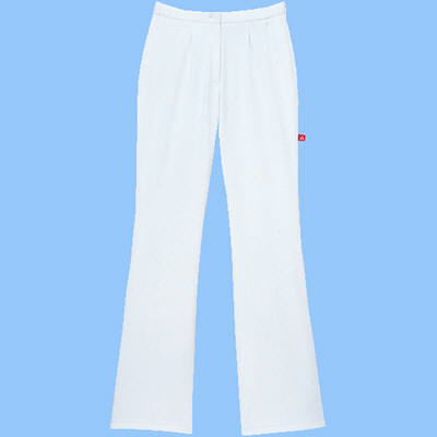 ルコックスポルティフ ナースパンツ ブーツカットパンツ UQW2011 ホワイト MA