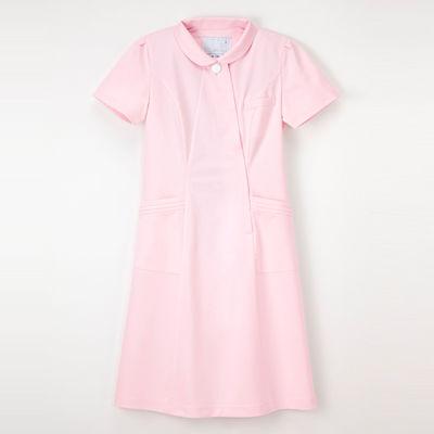 ナガイレーベン エレガントワンピース ナースワンピース 医療白衣 半袖 ピンク M CA-1797 (取寄品)