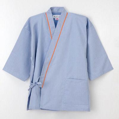 ナガイレーベン 患者衣 じんべい型 ブルーM SG1441 (取寄品)