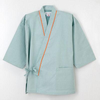 ナガイレーベン 患者衣 じんべい型 グリーンEL SG1441 (取寄品)