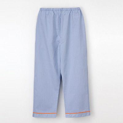 ナガイレーベン 患者衣 ズボン ブルーLL SG1443 (取寄品)