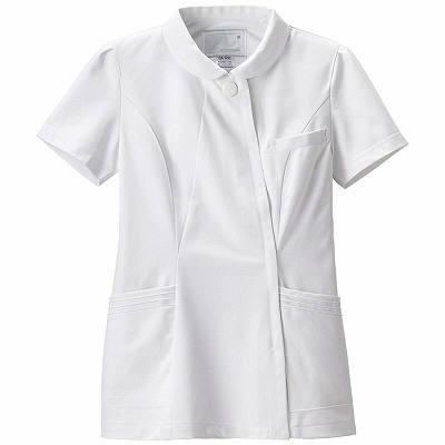 ナガイレーベン エレガントジャケット ナースジャケット 医療白衣 女性用 半袖 ホワイト M CA-1792 (取寄品)