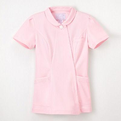 ナガイレーベン エレガントジャケット ナースジャケット 医療白衣 女性用 半袖 ピンク S CA-1792 (取寄品)