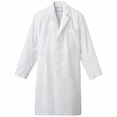 男子シングル診察衣 EM3015 ホワイト BL (取寄品)