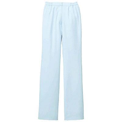 KAZEN レディススラックス 医療白衣 サックスブルー(水色) 3L 194-21 (直送品)