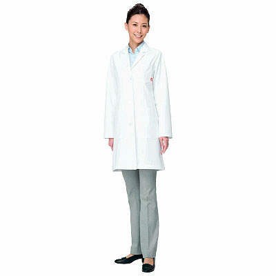 ルコックスポルティフ レディスシングル診察衣 ホワイト M QNW4011(UQW4011) (直送品)
