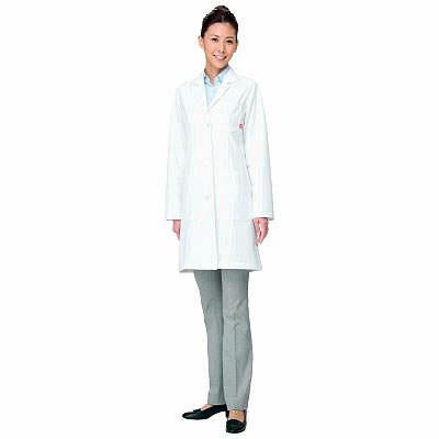 ルコックスポルティフ レディスシングル診察衣 ホワイト L QNW4011(UQW4011) (直送品)
