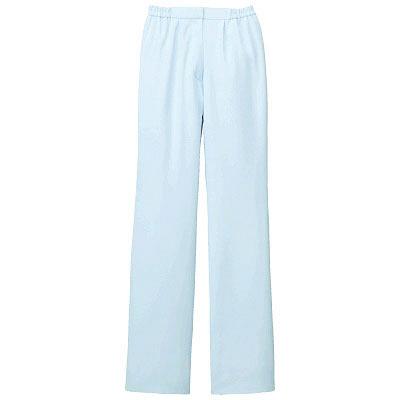 KAZEN レディススラックス 医療白衣 サックスブルー(水色) M 194-21 (直送品)