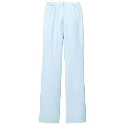 KAZEN レディススラックス 医療白衣 サックスブルー(水色) LL 194-21 (直送品)