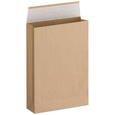 「現場のチカラ」 宅配袋茶無地特小(A4) フィルムなし 封緘シール付 1箱(200枚入) スーパーバッグ