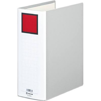 キングファイルG A4タテ とじ厚100mm背幅116mm グレー キングジム 片開きパイプファイル 970Nクレ 10冊