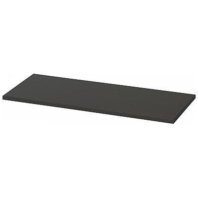 Ceha A4スチール書庫 カラー書庫 追加棚板 オープン・両開き扉タイプ専用 ブラック 1台 (直送品)