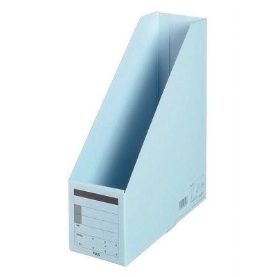プラス ボックスファイル A4タテ ロイヤルブルー 78180 1袋(10冊入) (直送品)