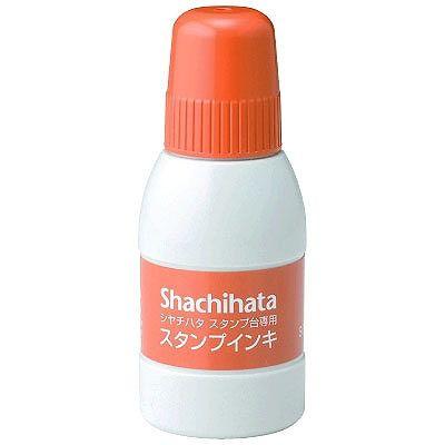シヤチハタ スタンプ台専用補充インキ 小瓶 朱色 SGN-40-OR (直送品)
