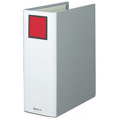 キングファイル スーパードッチ A4タテ とじ厚100mm 3冊 グレー キングジム 両開きパイプファイル 1470(直送品)