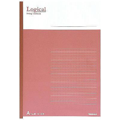 ナカバヤシ ロジカルノート・A4・A罫・ピンク no-A402A-P 1セット(10冊:1冊×10) (取寄品)