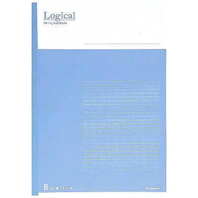 ナカバヤシ ロジカルノート・A4・B罫・ブルー no-A402B-B 1セット(10冊:1冊×10) (取寄品)
