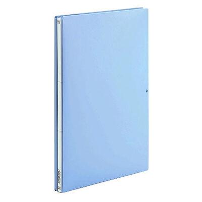 背幅伸縮ファイル PP製 A4タテ 10冊 ブルー アスクル